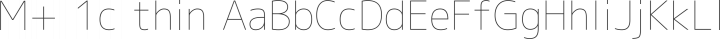 M+ 1c thin free font