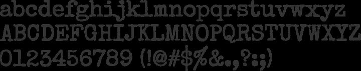 Special Elite Font Specimen