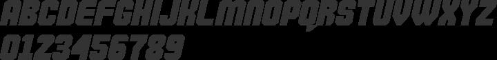 Commando Font Specimen