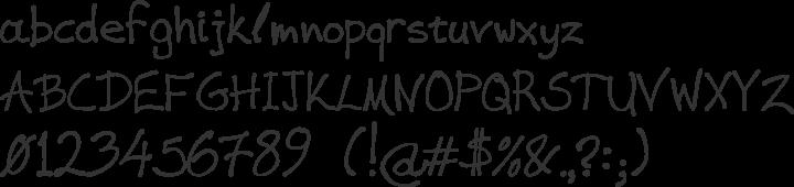 VAG-HandWritten Font Specimen