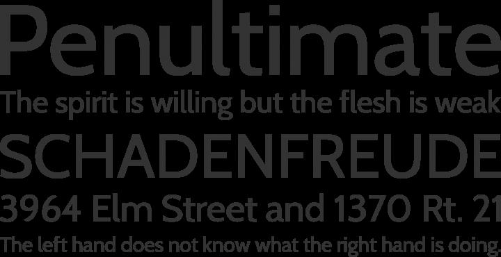 Cabin Font Phrases