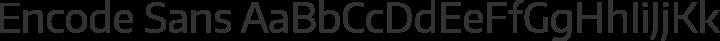 Encode Sans Regular free font