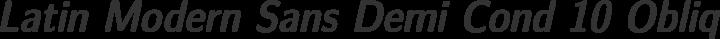 Latin Modern Sans Demi Cond 10 Oblique free font