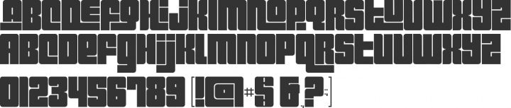 Pincoyablack Font Specimen