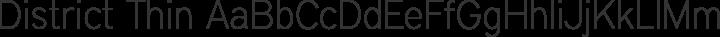 District Thin free font