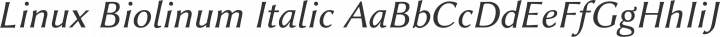 Linux Biolinum Italic free font