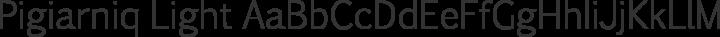 Pigiarniq Light free font