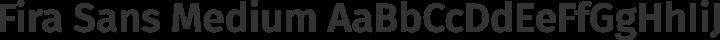 Fira Sans Medium free font