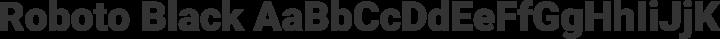 Roboto Black free font