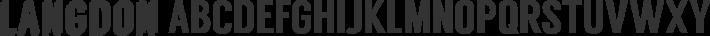 Langdon font family by xlntelecom
