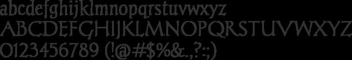 Chantelli Antiqua Font Specimen