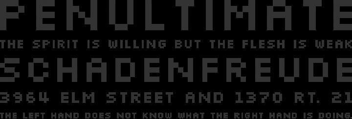 Silkscreen Font Phrases