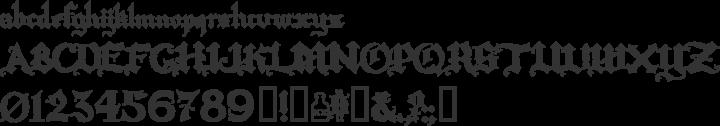 Rapscallion Font Specimen