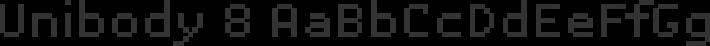 Unibody 8 font family by Underware