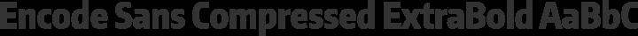 Encode Sans Compressed ExtraBold free font