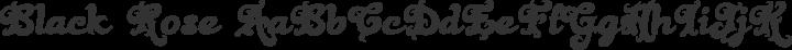 Black Rose Regular free font