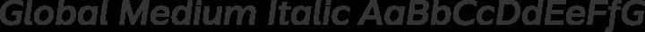 Global Medium Italic free font