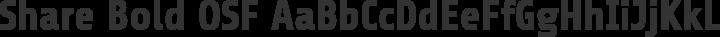 Share Bold OSF free font