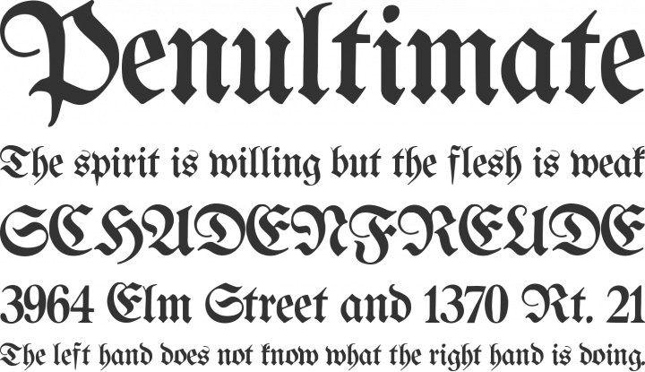 Proclamate Light Font Phrases