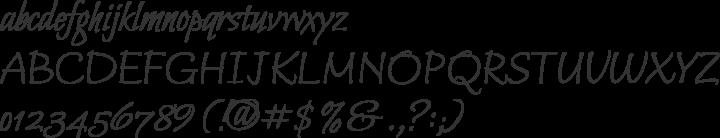 Bilbo Font Specimen