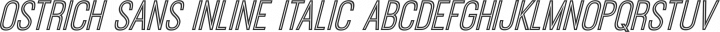 Ostrich Sans Inline Italic free font