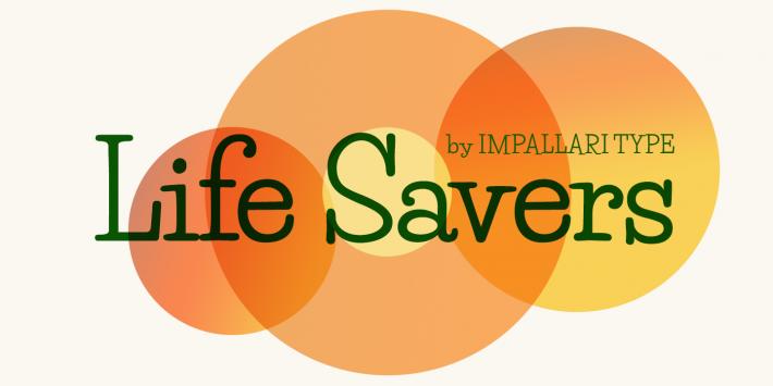 Life Savers Font Free By Impallari Type Squirrel